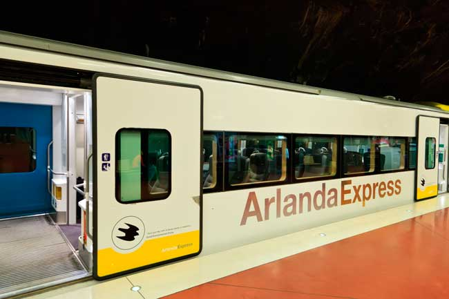 Arlanda Express is one of the most efficient and fast ways to get to the city centre of Stockholm from the airport.