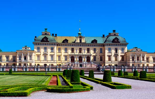 Drottningholm Palace is a World Heritage Site and residence of the Swedish royal family.